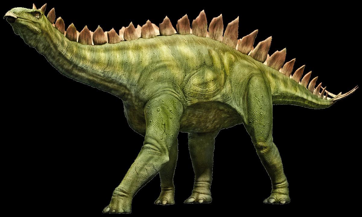 El Stegosaurus es un dinosaurio con placas en su espalda muy popular