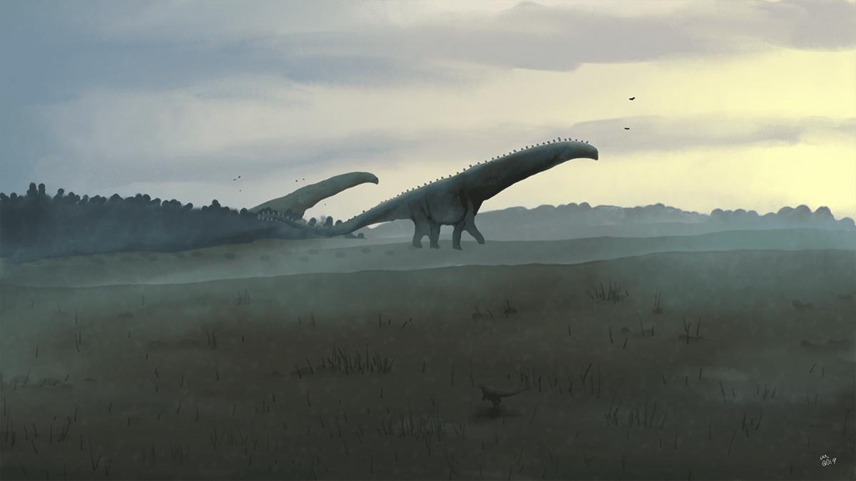 El dinosaurio más grande vivía durante el Cretácico
