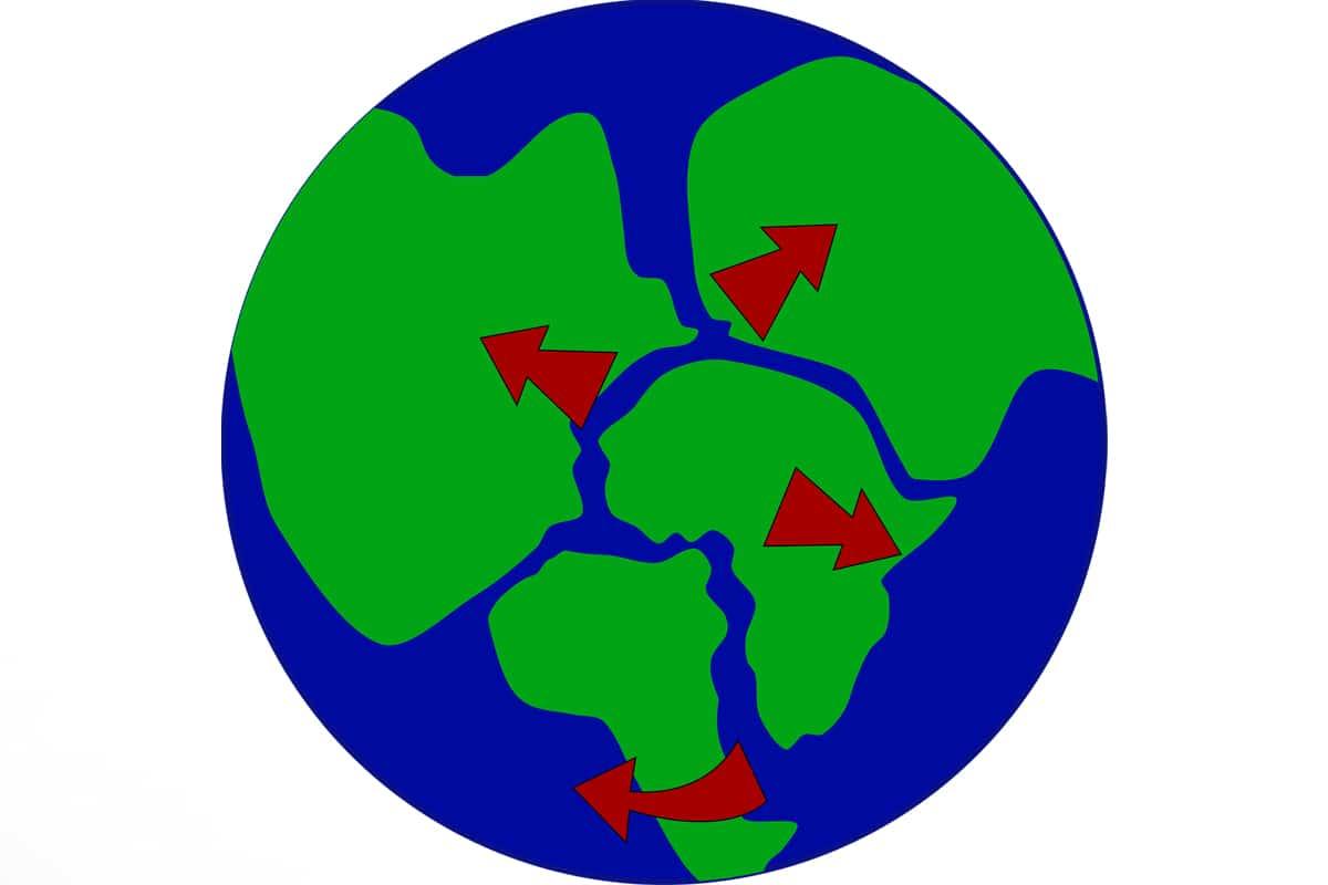 Durante la era de los dinosaurios, el supercontinente Pangea se iba fragmentando gradualmente