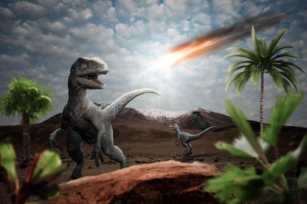 Se especula que la era de los dinosaurios terminó debido a un meteorito