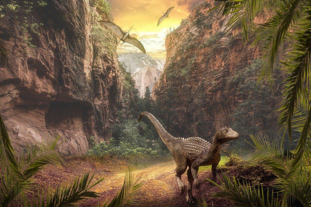 La era de los dinosaurios se llama Mesozoico